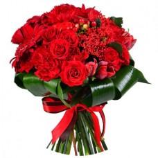 Букет «Бордовое сердце»