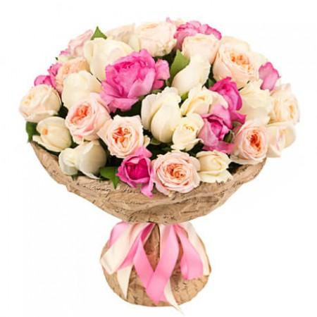 Букет садовых роз «Авиньон»
