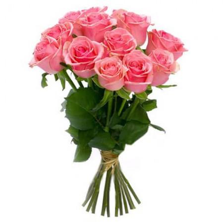 Букет 15 розовых роз