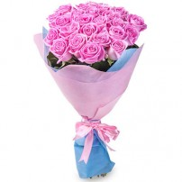 Букет 21 розовая роза