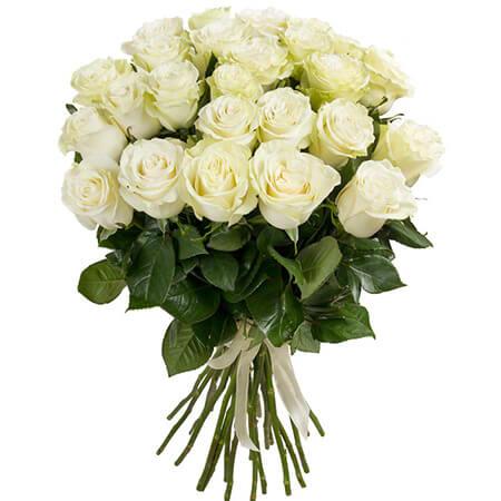 Букет 25 белых роз