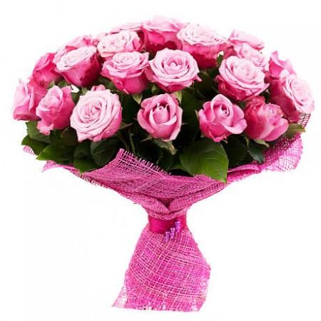 Букет 25 черничных роз