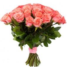 Букет 25 нежно-розовых роз