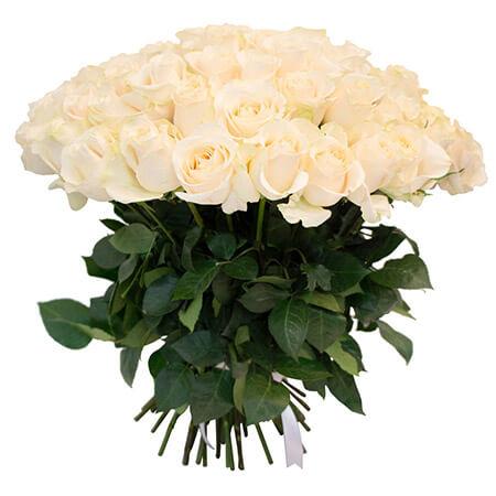 Букет 65 белых роз