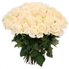 Букет 75 белых роз