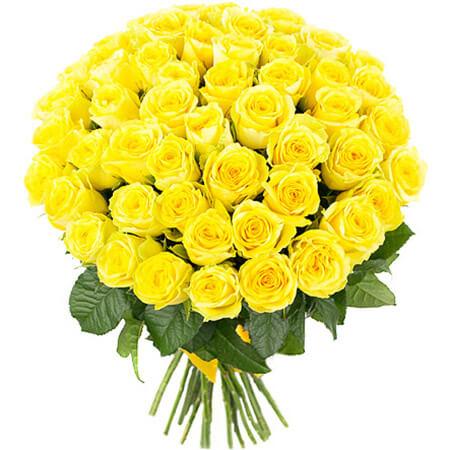 Букет 51 жёлтая роза