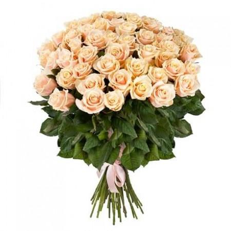Букет 51 кремовая роза