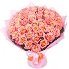 Букет 51 нежно-розовая роза