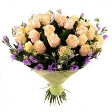 Букет розы и эустома