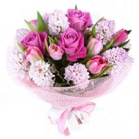 Букет «Розовая прелесть»