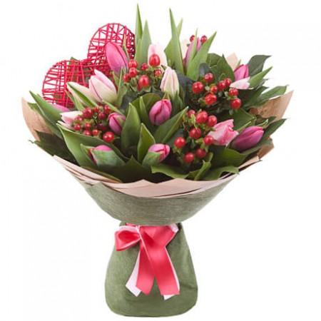 Букет «Тюльпановый сюрприз»