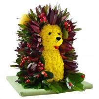 Игрушка из цветов «Ёжик»