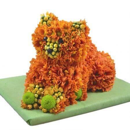 Игрушка из цветов «Лисёнок»
