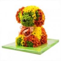 Игрушка из цветов «Собачка»