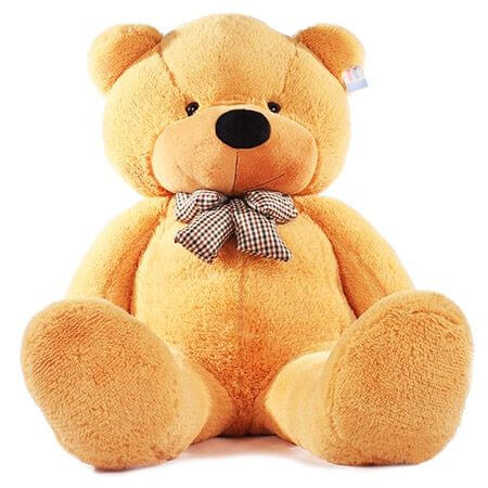 Большой рыжий плюшевый медведь