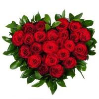 Сердце «21 красная роза»
