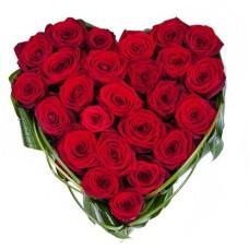 Сердце «25 красных роз»