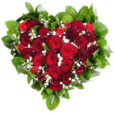 Сердце «23 красные розы»