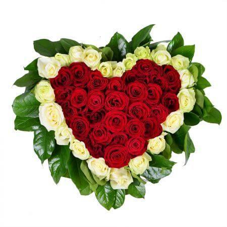Сердце «Красно-белое сердечко»
