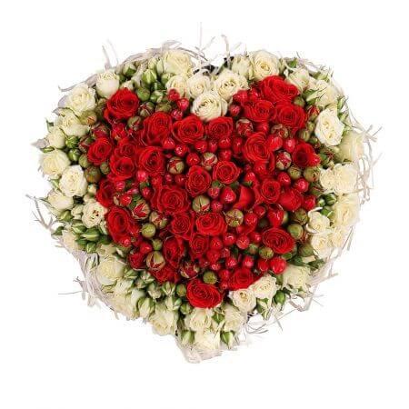 Сердце «Океан кустовых роз»