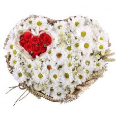 Сердце «Ромашковое сердечко»
