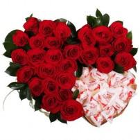 Сердце «Розы и Raffaello»