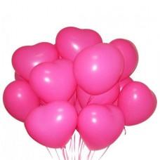Связка 15 шариков с гелием «Сердце»