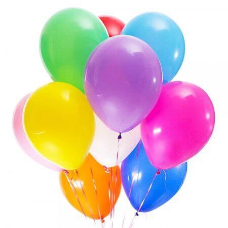Связка 15 шариков с гелием «Разноцветные»